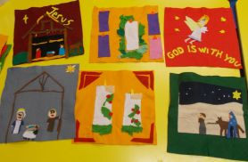 Christmas Felt Pictures by P5 & P6