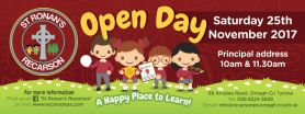 St Ronan's Primary School, Recarson Open Day Advertisement